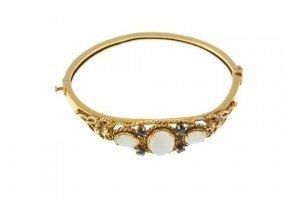 sapphire hinged bangle
