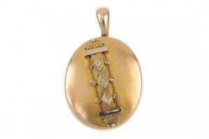 gold diamond locket