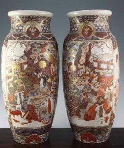 tall ovoid vases