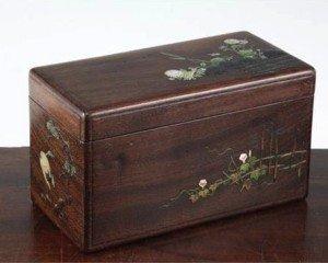 hardwood rectangular box