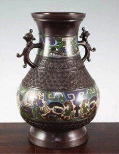 enamel baluster vase