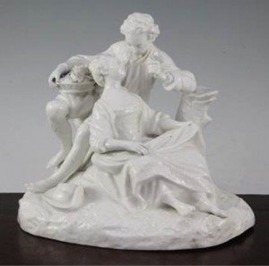 porcelain group of two lovers