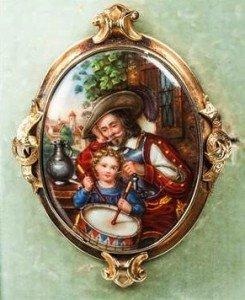 Victorian portrait brooch