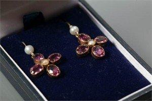 seed pearl drop earrings