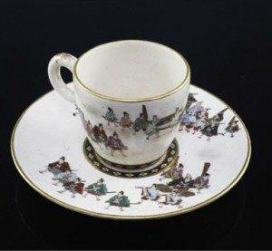 Japanese Satsuma pottery cup