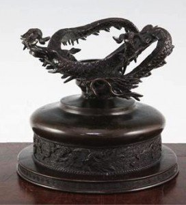 Japanese bronze bowl