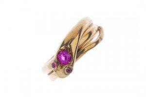 ruby snake ring