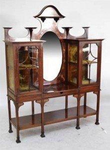 Art Nouveau display cabinet