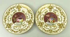Derby porcelain tea plates