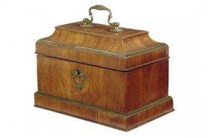 brass mounted tea chest