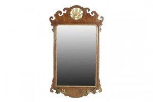 parcel gilt fret-frame wall mirror