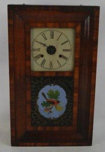rosewood veneered wall clock