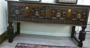 Jacobean inspired oak dresser