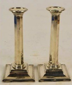 silver loaded candlesticks