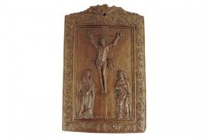 walnut devotional plaque