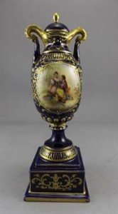 Lidded Pedestal Vase
