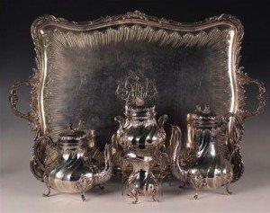 four-piece tea set