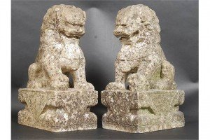 marble temple lion dogs