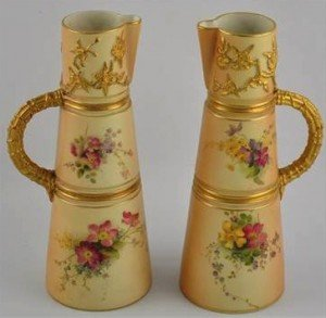 blush porcelain ewers