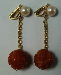 pearl set earrings