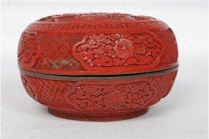 cinnabar lacquered box