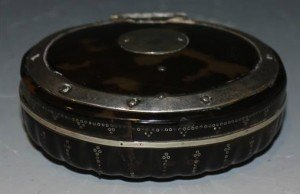 tortoiseshell oval snuff box