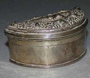 Indian silver box