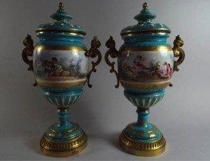 mounted porcelain vases