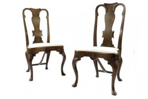 walnut side chairs