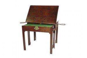 mahogany architect's table