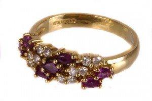 diamond half hoop ring,