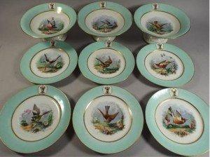 porcelain fruit set
