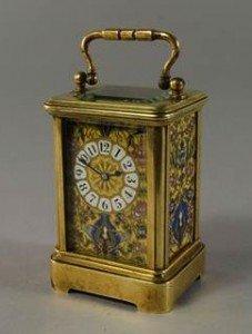 mignon enamel carriage clock