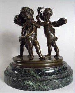 bronze figure group