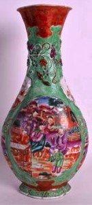 lozenge shaped vase
