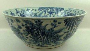 porcelain fish bowl