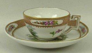 miniature porcelain tea cup