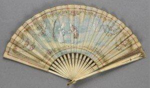 folding silk fan