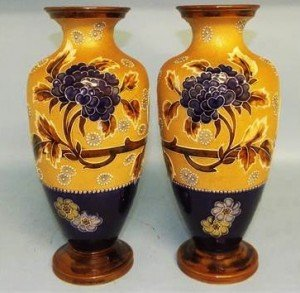 Patent stoneware vases