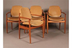 Danish teak armchairs
