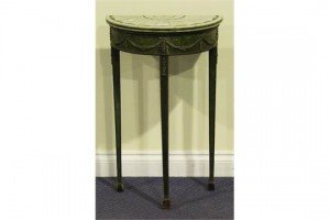 demi-lune console table