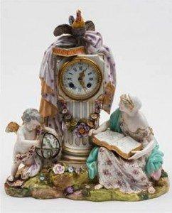 figural mantel clock