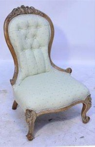 walnut ladies spoon back chair