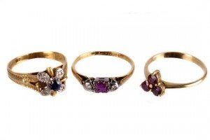 gem set rings,