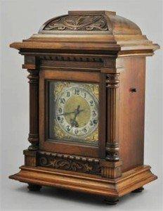 cased bracket clock