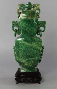 archaistic vase and cover