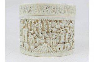 Cantonese ivory lidded box
