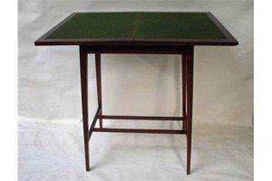mahogany games table,