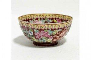 porcelain lobed round bowl