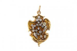 Russian gold diamond locket